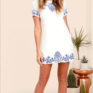 Lulu's a line shirt dress